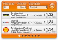 Brandstofprijzen Widget screenshot small